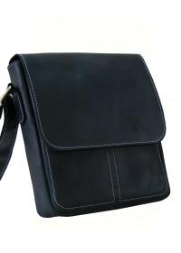 Черная сумка мужская на плечо кожаная 71120-SGE