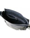 Фотография Черная сумка мужская на плечо кожаная 71120-SGE