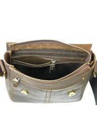Коричневая плечевая кожаная мужская сумка 71121-SGE