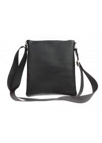Кожаная небольшая мужская черная сумка планшетка 711220-SKE