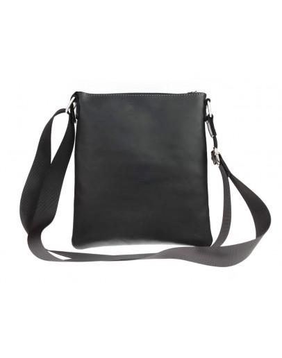 Фотография Кожаная небольшая мужская черная сумка планшетка 711220-SKE