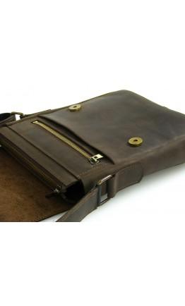 Коричневая плечевая мужская сумка 71123-SGE
