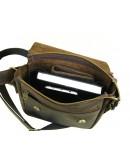 Фотография Коричневая плечевая мужская сумка 71123-SGE