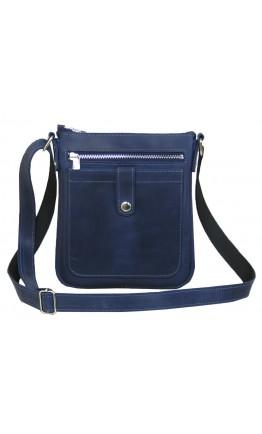 Синяя кожана мужская сумка на плечо 711291-SGE