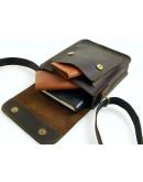 Фотография Коричневая небольшая сумка через плечо 7113-SGE