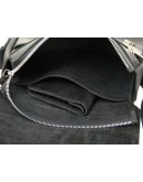 Фотография Черная небольшая мужская кожаная плечевая сумка 71132-SGE