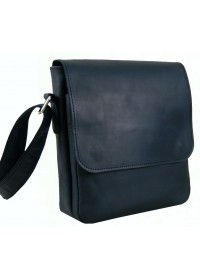 Черная небольшая мужская кожаная плечевая сумка 71132-SGE