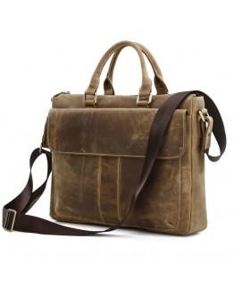 Многофункциональная мужская сумка из кожи лошади 77113B