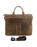 Фотография Многофункциональная мужская сумка из кожи лошади 77113B