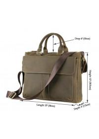 Стильная и удобная мужская сумка из лошадиной кожи 77113R