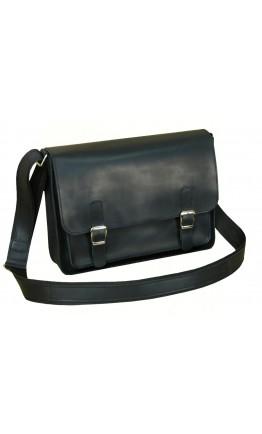 Кожаная черная сумка формата А4 7114-SGE