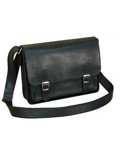Фотография Кожаная черная сумка формата А4 7114-SGE