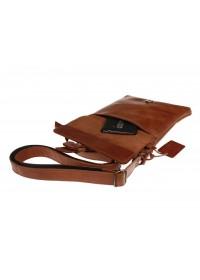 Светло-коричневая кожаная небольшая сумка на плечо 711427-SKE
