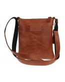 Фотография Светло-коричневая кожаная небольшая сумка на плечо 711427-SKE