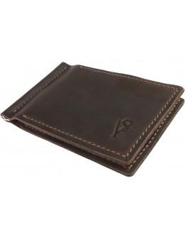 Мужской кожаный зажим для купюр коричневый 7115P-SKE