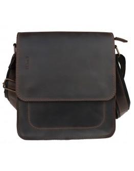 Вместительная темно-коричневая сумка через плечо 711637-SKE