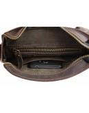 Фотография Коричневая плечевая деловая кожаная сумка на плечо 711728-SKE