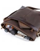 Фотография Сумка на плечо кожаная коричневая t71177