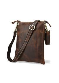 Компактная кожаная мужская сумка на каждый день 77118