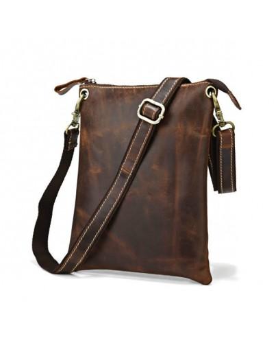 Фотография Компактная кожаная мужская сумка на каждый день 77118