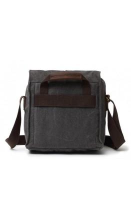 Мужская тканевая сумка на плечо серого цвета 71181gray