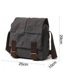 Фотография Мужская тканевая сумка на плечо серого цвета 71181gray