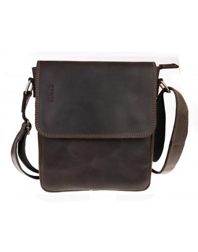 Фотография Мужская темно-коричневая плечевая сумка 711830-SKE