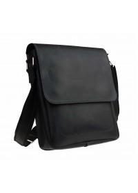 Кожаная черная мужская деловая сумка на плечо 711938-SKE