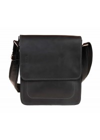 Черная кожаная мужская плечевая сумка 712037-SKE
