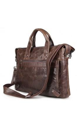 Добротный винтажный мужской кожаный портфель 77120C