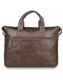 Фотография Добротный винтажный мужской кожаный портфель 77120C