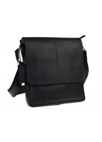 Мужская черная кожаная плечевая сумка 712140-SKE