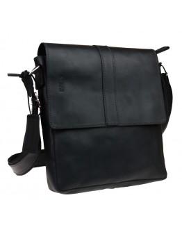 Кожаная черная сумка планшет с клапаном 712238-SKE