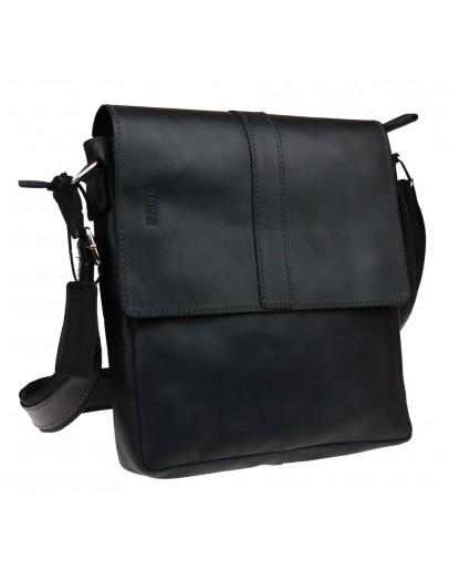 Фотография Кожаная черная сумка планшет с клапаном 712238-SKE