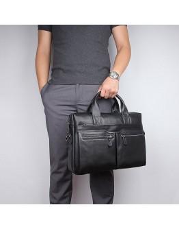 Сдержанный и модный мужской кожаный портфель 77122A-1