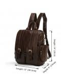 Фотография Коричневый повседневный мужской рюкзак коричневого цвета 77123c