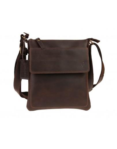 Фотография Коричневая мужская плечевая сумка-планшетка 712325-SKE