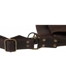 Коричневая мужская плечевая сумка-планшетка 712325-SKE