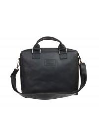 Черная удобная кожаная мужская сумка 71240-SKE