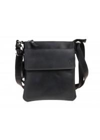 Кожаная черная сумка-планшетка на плечо 712425-SKE