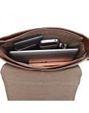 Фотография Классная качественная сумка на плечо из натуральной кожи 77125