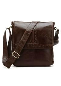 Классная качественная сумка на плечо из натуральной кожи 77125