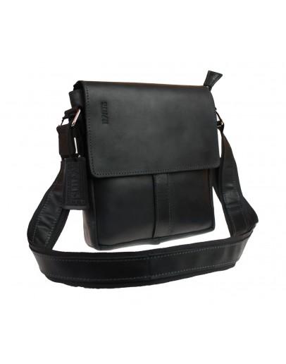 Фотография Черная вертикальная мужская сумка на плечо 712530-SKE