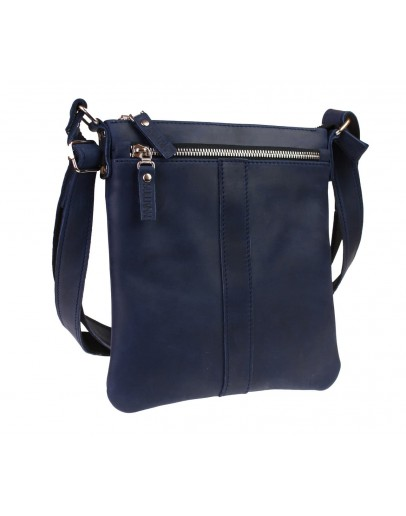 Фотография Синяя мужская планшетка - сумка на плечо 712722-SKE
