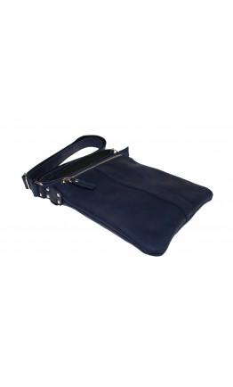 Синяя мужская планшетка - сумка на плечо 712722-SKE