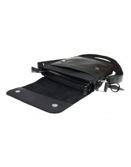 Мужская сумка черная кожаная на плечо 712828-SKE