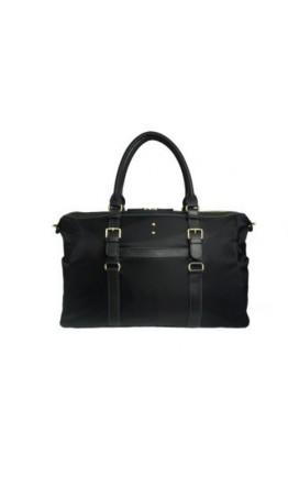 Тканевая чёрная сумка для командировок 7130707