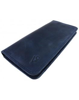 Большой кожаный мужской синий кошелек 71310P-SKE