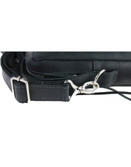 Черная мужская удобная сумка - борсетка 713130-SKE
