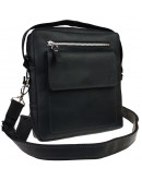 Фотография Черная мужская удобная сумка - борсетка 713130-SKE